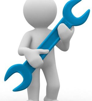 ۳d human carry a big tool in hands