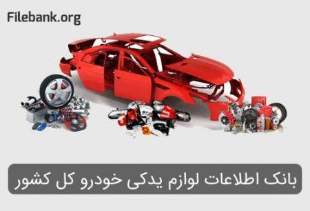 بانک اطلاعات لوازم یدکی خودرو کل کشور